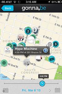 Gonnabe SXSW Map